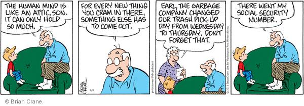 Comic Strip Brian Crane  Pickles 2011-03-08 garbage can