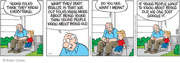 Comic Strip Brian Crane  Pickles 2011-03-10 generational
