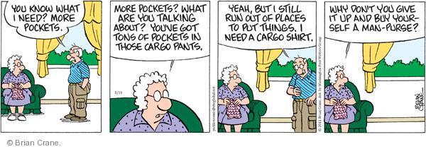 Comic Strip Brian Crane  Pickles 2011-03-11 contain