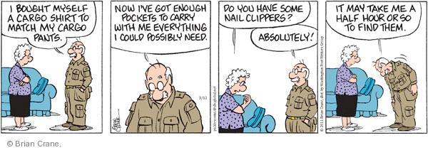 Comic Strip Brian Crane  Pickles 2011-03-12 contain