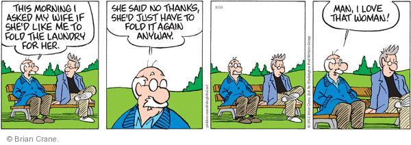 Comic Strip Brian Crane  Pickles 2011-03-15 wash clothes