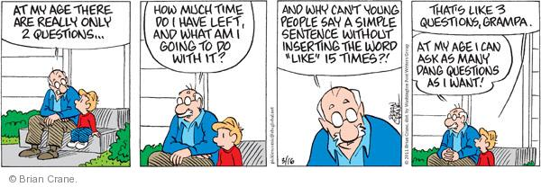 Cartoonist Brian Crane  Pickles 2011-03-16 time