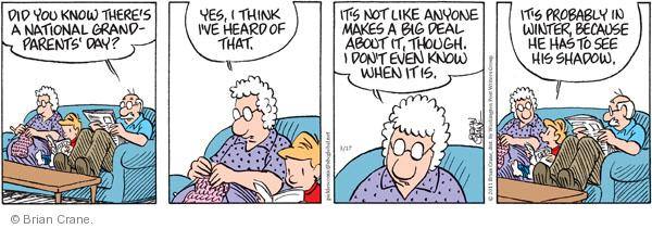 Comic Strip Brian Crane  Pickles 2011-03-17 season