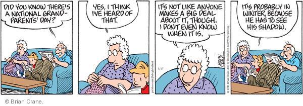 Comic Strip Brian Crane  Pickles 2011-03-17 seasonal