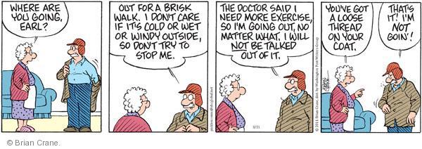 Comic Strip Brian Crane  Pickles 2011-03-21 advice