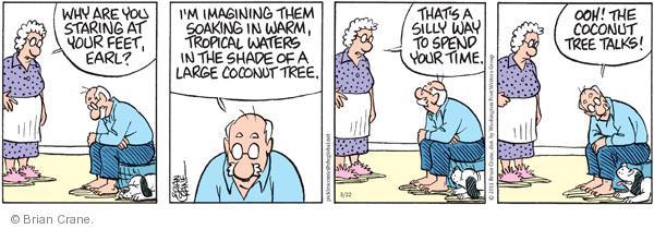 Comic Strip Brian Crane  Pickles 2011-03-22 warm water
