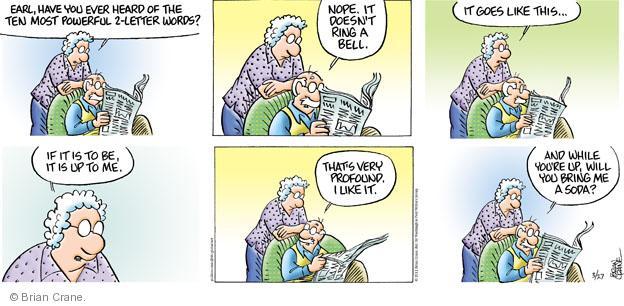 Comic Strip Brian Crane  Pickles 2011-03-27 discern