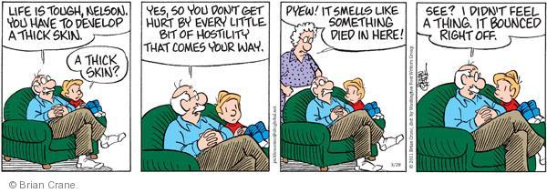 Comic Strip Brian Crane  Pickles 2011-03-28 hostility
