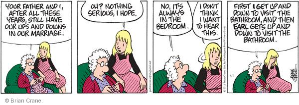 Comic Strip Brian Crane  Pickles 2011-04-02 bedroom