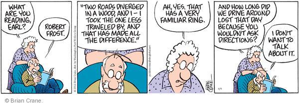 Comic Strip Brian Crane  Pickles 2011-04-09 Robert Frost