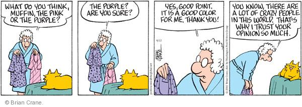 Comic Strip Brian Crane  Pickles 2011-04-12 purple