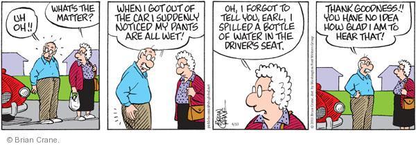 Comic Strip Brian Crane  Pickles 2011-04-13 thank goodness