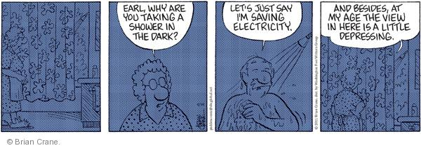 Comic Strip Brian Crane  Pickles 2011-04-18 shower