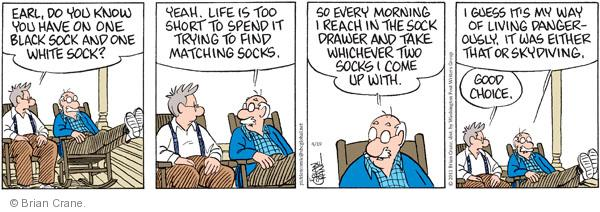 Comic Strip Brian Crane  Pickles 2011-04-19 risk