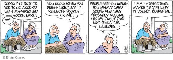 Comic Strip Brian Crane  Pickles 2011-04-20 responsibility