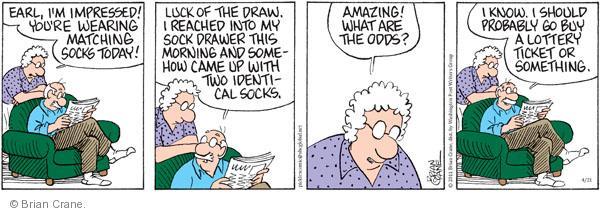 Comic Strip Brian Crane  Pickles 2011-04-21 gamble
