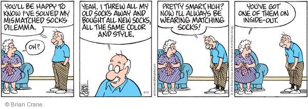 Comic Strip Brian Crane  Pickles 2011-04-22 dilemma