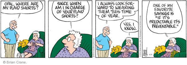 Comic Strip Brian Crane  Pickles 2011-04-25 seasonal