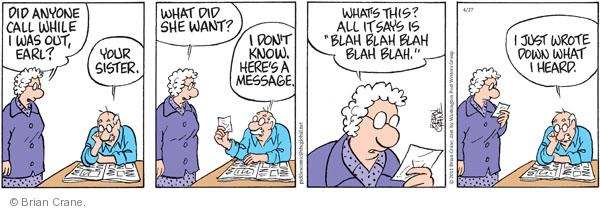 Comic Strip Brian Crane  Pickles 2011-04-27 in-law