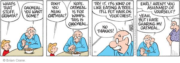 Comic Strip Brian Crane  Pickles 2011-05-02 breakfast food
