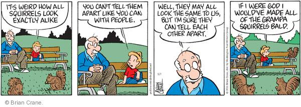 Comic Strip Brian Crane  Pickles 2011-05-07 animal god