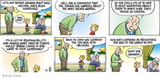 Comic Strip Brian Crane  Pickles 2011-05-08 responsibility