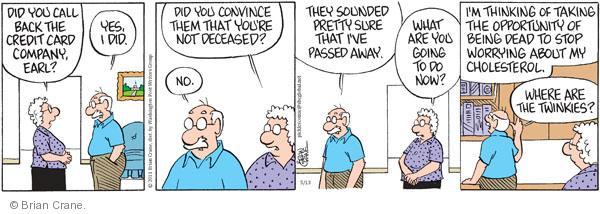 Comic Strip Brian Crane  Pickles 2011-05-13 going