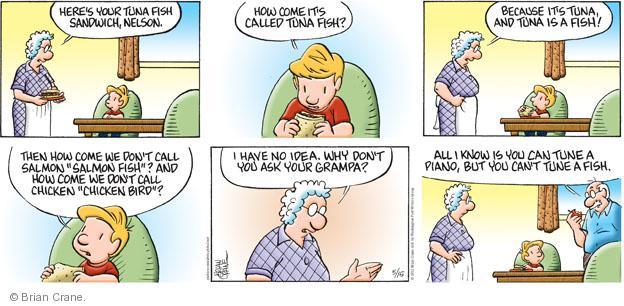 Comic Strip Brian Crane  Pickles 2011-05-15 fish