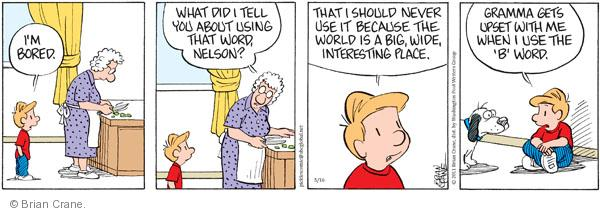 Comic Strip Brian Crane  Pickles 2011-05-16 Nelson