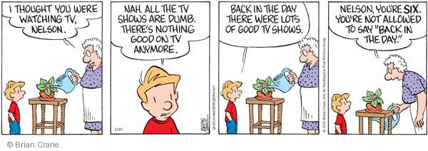 Comic Strip Brian Crane  Pickles 2011-05-19 Nelson