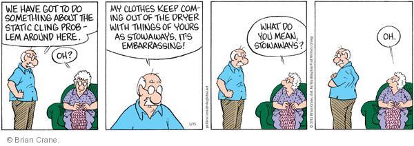 Comic Strip Brian Crane  Pickles 2011-05-25 launder