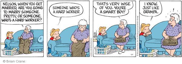Comic Strip Brian Crane  Pickles 2011-06-04 Nelson