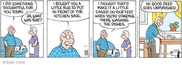 Cartoonist Brian Crane  Pickles 2011-06-17 deed