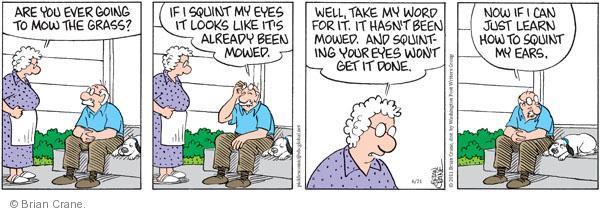Comic Strip Brian Crane  Pickles 2011-06-21 promise