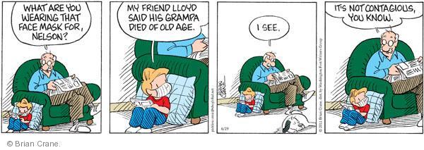Comic Strip Brian Crane  Pickles 2011-06-29 Nelson