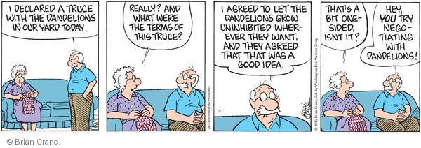 Comic Strip Brian Crane  Pickles 2011-07-07 unrestrained