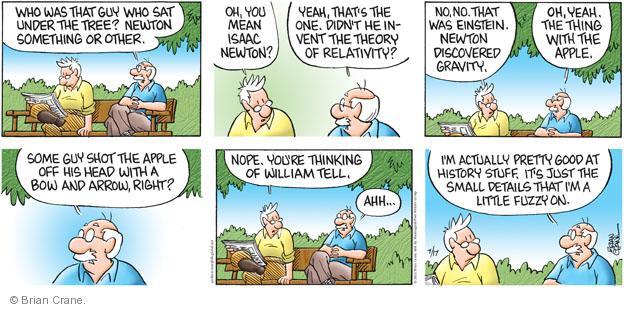 Comic Strip Brian Crane  Pickles 2011-07-17 apple tree