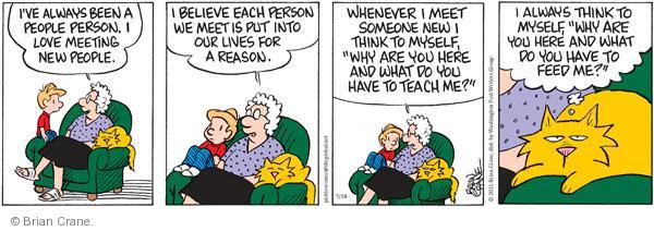 Comic Strip Brian Crane  Pickles 2011-07-18 belief