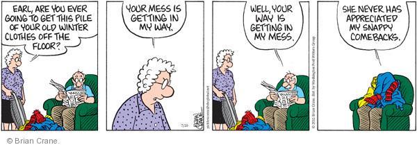 Comic Strip Brian Crane  Pickles 2011-07-20 get old