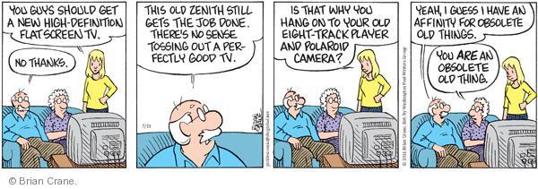 Comic Strip Brian Crane  Pickles 2011-07-21 good guy