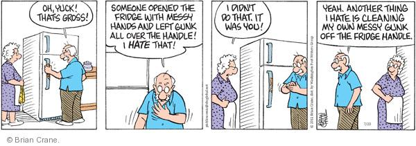 Comic Strip Brian Crane  Pickles 2011-07-23 left hand
