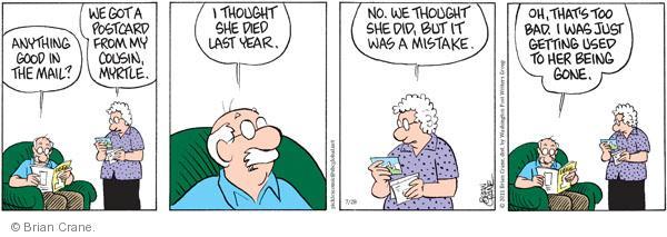 Comic Strip Brian Crane  Pickles 2011-07-28 bad