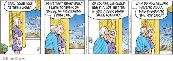 Comic Strip Brian Crane  Pickles 2011-07-29 window