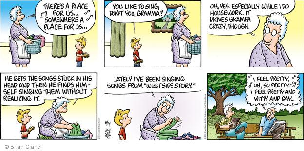 Comic Strip Brian Crane  Pickles 2011-08-14 grandmother