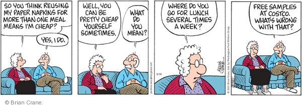 Cartoonist Brian Crane  Pickles 2011-08-18 wrong time