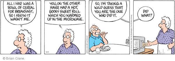 Comic Strip Brian Crane  Pickles 2011-08-19 cereal