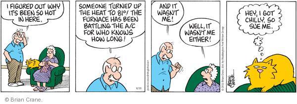 Comic Strip Brian Crane  Pickles 2011-08-20 conditioner