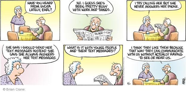 Comic Strip Brian Crane  Pickles 2011-08-21 busy