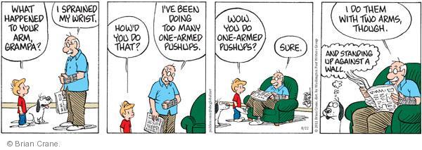 Comic Strip Brian Crane  Pickles 2011-08-22 arms