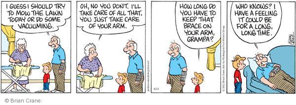 Comic Strip Brian Crane  Pickles 2011-08-23 arms